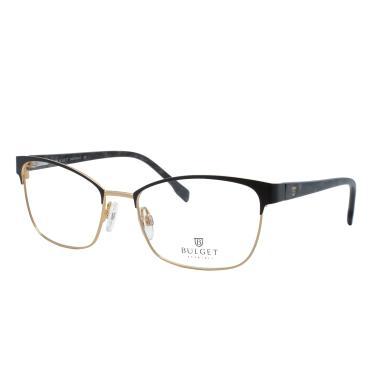 7671d70bb6271 Óculos de Grau Bulget Feminino BG1568 01A - Metal Dourado e Acetado Marrom
