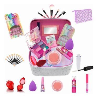 Imagem de Maleta Infantil + Kit Maquiagens E Itens De Beleza Bz40 - Bazar Na Web