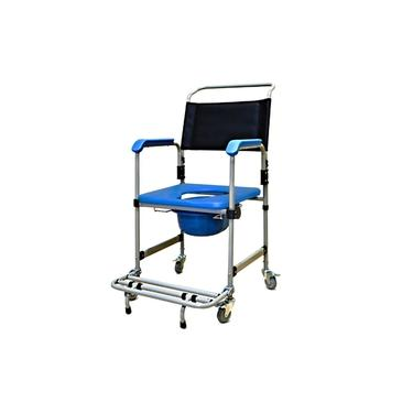 Imagem de Cadeira de Banho Higiênica Reforçada com Assento Estofado Removível e Coletor D50 Dellamed