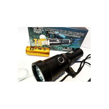 Ultra Lanterna XML T9 De Led Para Mergulho Profissional+ Duas Baterias Extra 26650 4.2v