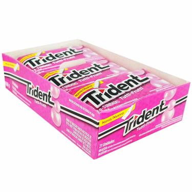 Chiclete Trident Tutti-Frutti Mondelez 21 Unidades 10372