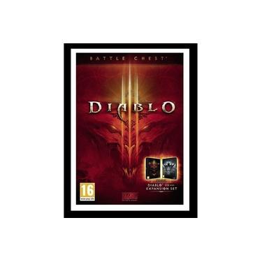 Quadro Com Vidro Jogo Game Diablo 3 35x45 Cm