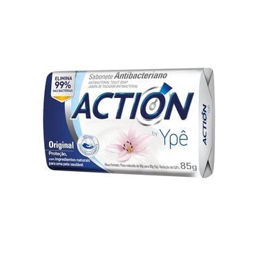 Sabonete em Barra Antibacteriano 85g Action Ypê Original. Elimina 99% das bactérias.