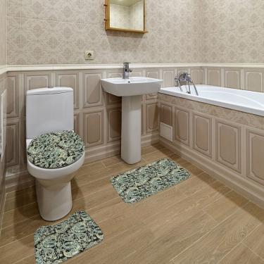 Imagem de Jogo de Banheiro Arabesco Preto Único