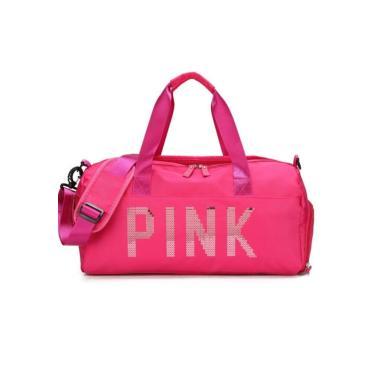 Imagem de Bolsa Feminina Mala Pink Academia Fitness Transversal Casual Rosa  unissex
