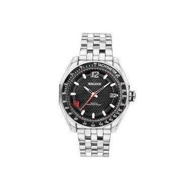 254e55c62c9 Relógio Magnum Masculino Cromado Prova D água 10atm Ma32176t