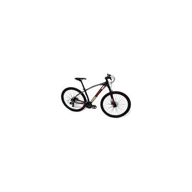 Imagem de Bicicleta Elleven Rocker ii Aro 29 Tam 17 Preto/Cinza/Vermelho Kit Shimano 24V trava no ombro. ano 2021