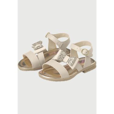 Sandália Infantil  Plis Calçados A677 Marfim  menina