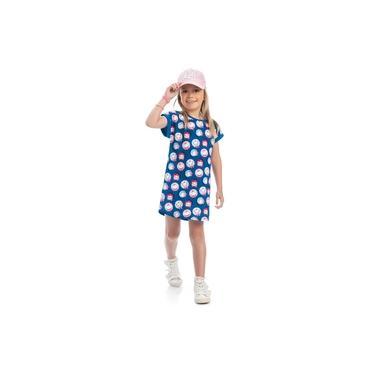 Vestido Gatinha Marie Azul - Kamylus