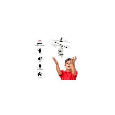 Imagem de Mini Drone Brinquedo Infantil Robo Voador Infravermelho Branco - 1014M