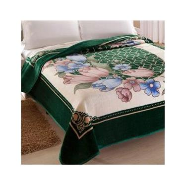 a4b47ab22d Cobertor King Kyor Plus Toulon 1 Peça Microfibra Jolitex Verde
