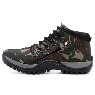 Bota Adventure Feminina Confortável para Trilha MacShoes 218 Verde Militar  feminino