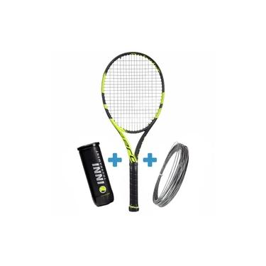 Raquete de Tênis Babolat Pure Aero Plus + Corda e Bola de Brinde