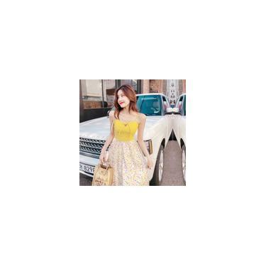 Womens Slip Dress Elegante Vestido Pontilhado Brilhante Com Arco