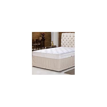 Imagem de Saia para Cama King Soft Touch Marrom - Casa & Conforto
