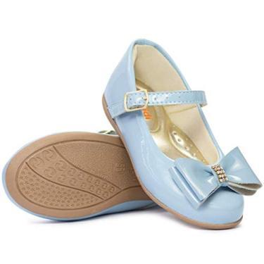 Sapatilha Infantil Feminina Moda Barato 201 (21, Azul bebe)