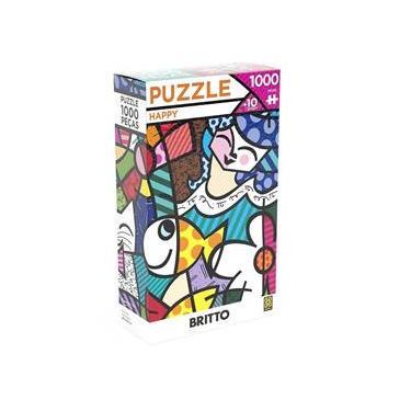 Imagem de Jogo Puzzle Quebra Cabeça 1000 Peças Romero Britto Grow