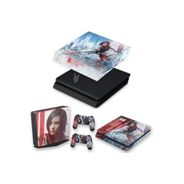 Capa Anti Poeira e Skin para PS4 Slim - Mirror'S Edge Catalyst