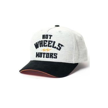Boné Snapback Hot Wheels - Gear Head - HW Motors - Cinza / Preto