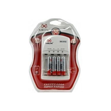 Carregador Pilhas Mox Aa Aaa 9v Com 4 Pilhas Aaa MO-CP52