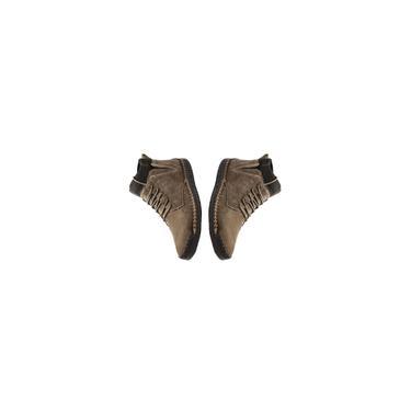 Imagem de Botas masculinas em tecido camurça costura à mão com forro de pelúcia quente Botas masculinas