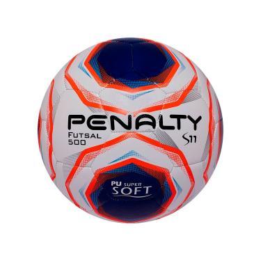 Imagem de Bola De Futsal Penalty Oficial Branco, Azul, Laranja S11 R2 X