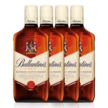 Kit Whisky Ballantine's Finest 1L - 4 Unidades