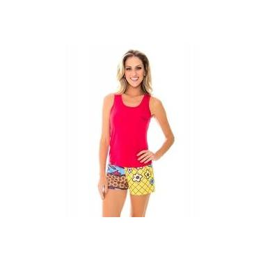 Pijama Feminino Recco Baunilha Viscose Curto 09586