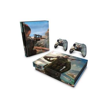 Skin Adesivo para Xbox One X - Sniper Elite 4