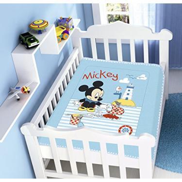 Cob. Raschel Pol. Disney Mickey Praia Jolitex Multicor Infantil Poliéster