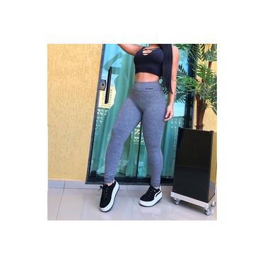 Imagem de Legging Feminina Básica lisa Cós Alto em Suplex Treino Fitness Tamanhos P ao GG Moda Fitness