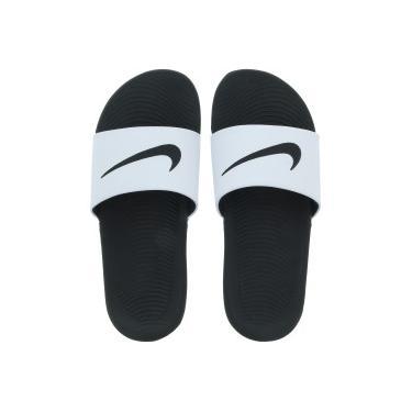 Chinelo Nike Kawa - Slide - Masculino - BRANCO PRETO Nike af779b6029276