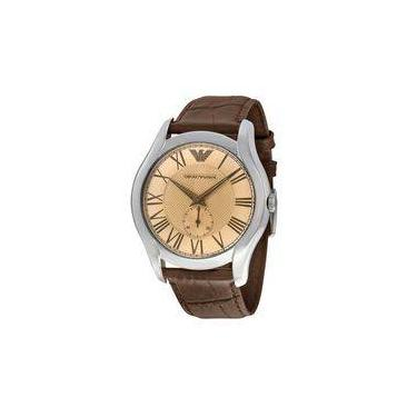 57ab3be0382 Relógio Masculino Emporio Armani Modelo AR1704 Pulseira em Couro   A prova d   água