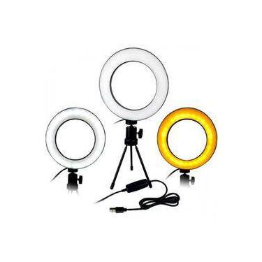 Ring Light Completo Mini Ring Light Com Tripe Iluminador De Led Portátil De 16cm Para Maquiagem