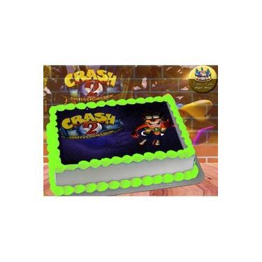 PS4 XBOX GAME - Papel De Arroz Comestível Para Bolo Crash Bandicoot II A4 20x30cm Mod.03
