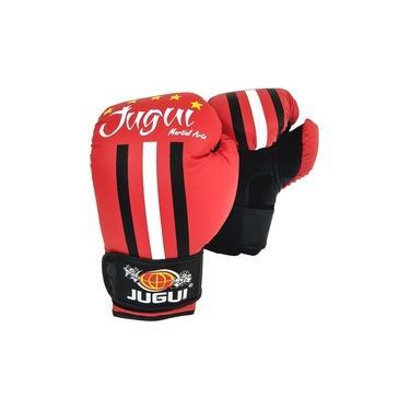 Luva de Boxe/Muay Thai Jugui Five Stars - Vermelho - 10oz