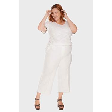 Calça Croed Alfaiataria Plus Size Off White
