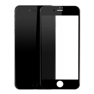 Pelicula Vidro 6D Inteira para iphone 6/6s/7/8 Plus iphone X/Xs XS-MAX XR (Iphone 7/8 Plus preto)