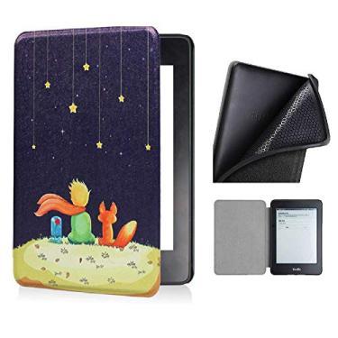 Capa Kindle 10ª geração com iluminação embutida – Auto Hibernação – Fecho Magnético – Silicone - Pequeno Príncipe