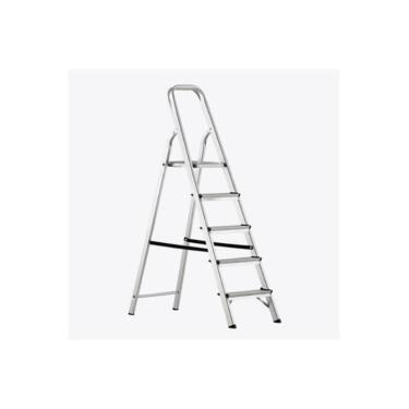 Escada De Alumínio Doméstica 5 Degraus Alustep