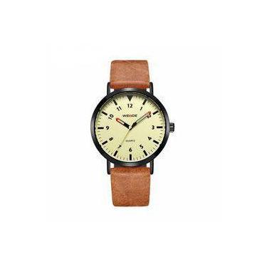 9173df8a8a7 Relógio Masculino Weide Analógico Wd003 Marrom Bege