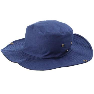 SOIMISS Chapéu respirável dobrável chapéu respirável chapéu de sol ao ar livre para mulher homem (azul marinho)