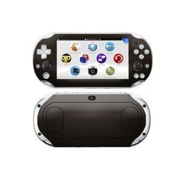 Kit Skin Adesivo Protetor PS VITA Playstation 2000 Slim (Marrom Premium)