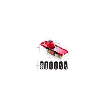Imagem de Mandoline Slicer 6 em 1 Nicer Ralador Fatiador Cortador De Legumes Aço Inoxidável