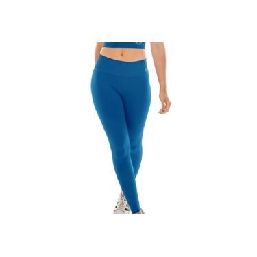 Imagem de Calça Legging M cós alto academia fitnes BYG Ring Azul