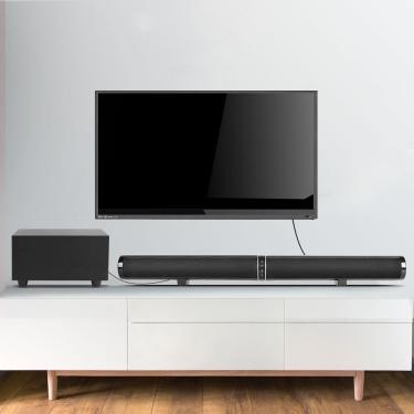 Imagem de Bakeey bluetooth Alto-falante Home Theater Soundbar TV Áudio 2.1 Barra de parede Alto-falante Subwoofer Banggood