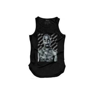 Camiseta Masculina Regata Longline Tupac Shakur
