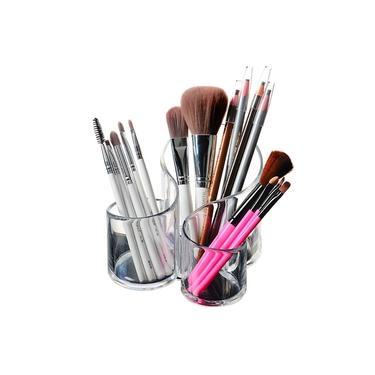 Porta Maquiagem Organizador de Pincéis/Batons de Acrílico