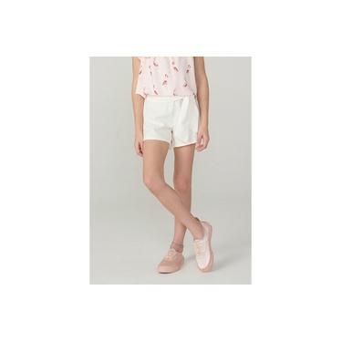 Shorts Infantil Menina Em Tecido De Algodão Texturizado
