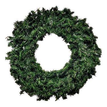 Guirlanda Natal Festão Aramado Coroa 80cm 350 Galhos Verde